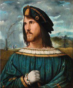 Altobello Melone (Italie, vers 1491-1543) – Portrait de gentilhomme (César Borgia ?) (1513) Accademia Carrara di Bergamo, Bergame. Italie