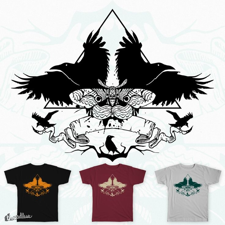 Raven and Moth on Threadless