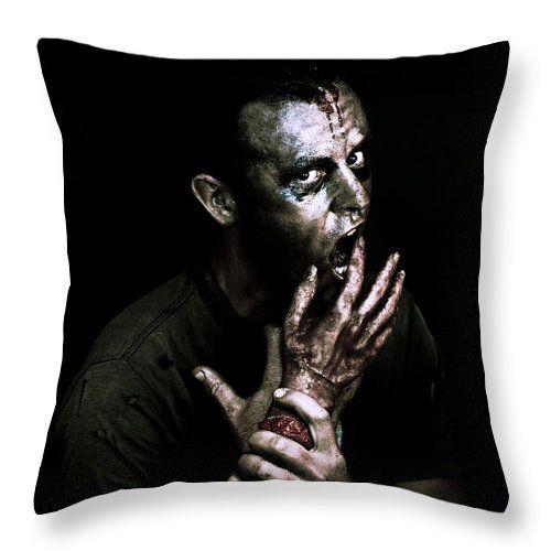Apocalypse Throw Pillow featuring the photograph Deadly Midnight Snack by Jorgo Photography - Wall Art Gallery