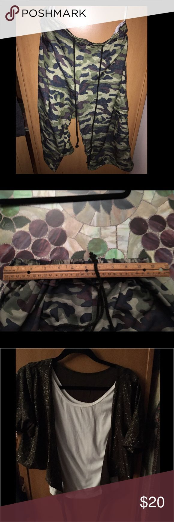 Hip hop costume size chart  XLA Camouflage outfit dance worn once Costumes Dance