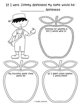 If I Were Johnny Appleseed Freebie Use this to help celebrate Johnny Appleseed Day on September 26th or any other time you're studying apples. If you like it, please leave feedback. I know you have a lot of choices on TpT from a lot of talented sellers.