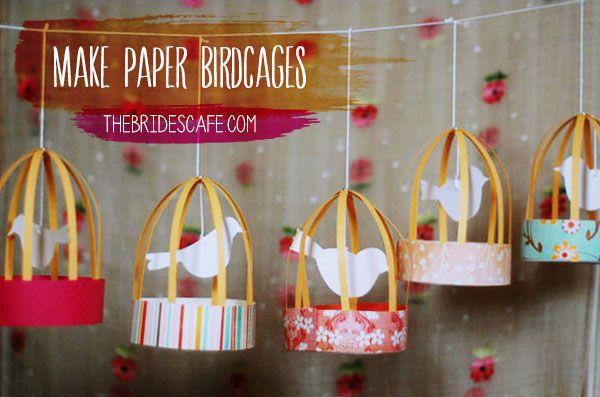 Paper birdcage! :)