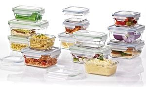 Store leftovers and safely transfer them to the freezer and microwave in these handy glass containers, complete with locking airtight lids