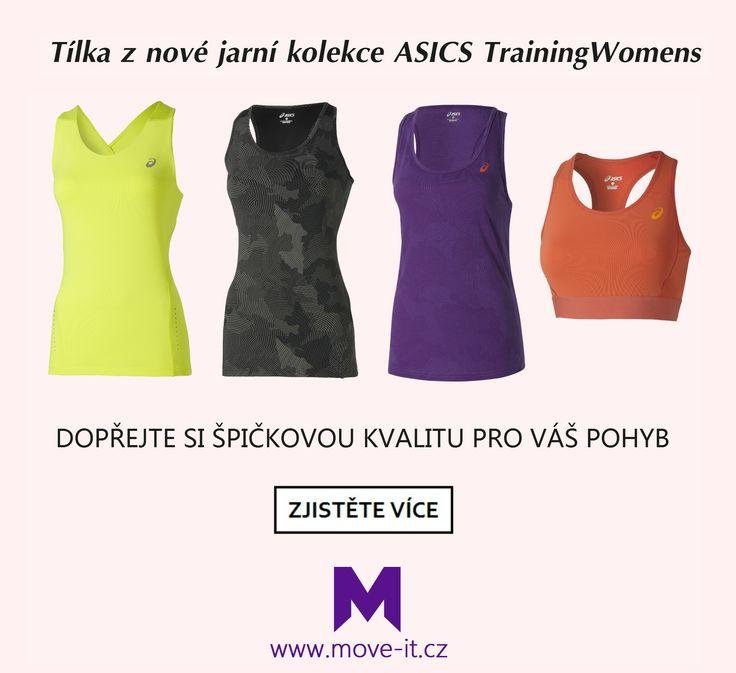 Výrazné barvy, atraktivní vzory, propracované střihy a prvotřídní kvalita - to vše jsou tílka z nové jarní kolekce ASICS TrainingWomens.  Prohlédněte si ▶ http://www.move-it.cz/asics/
