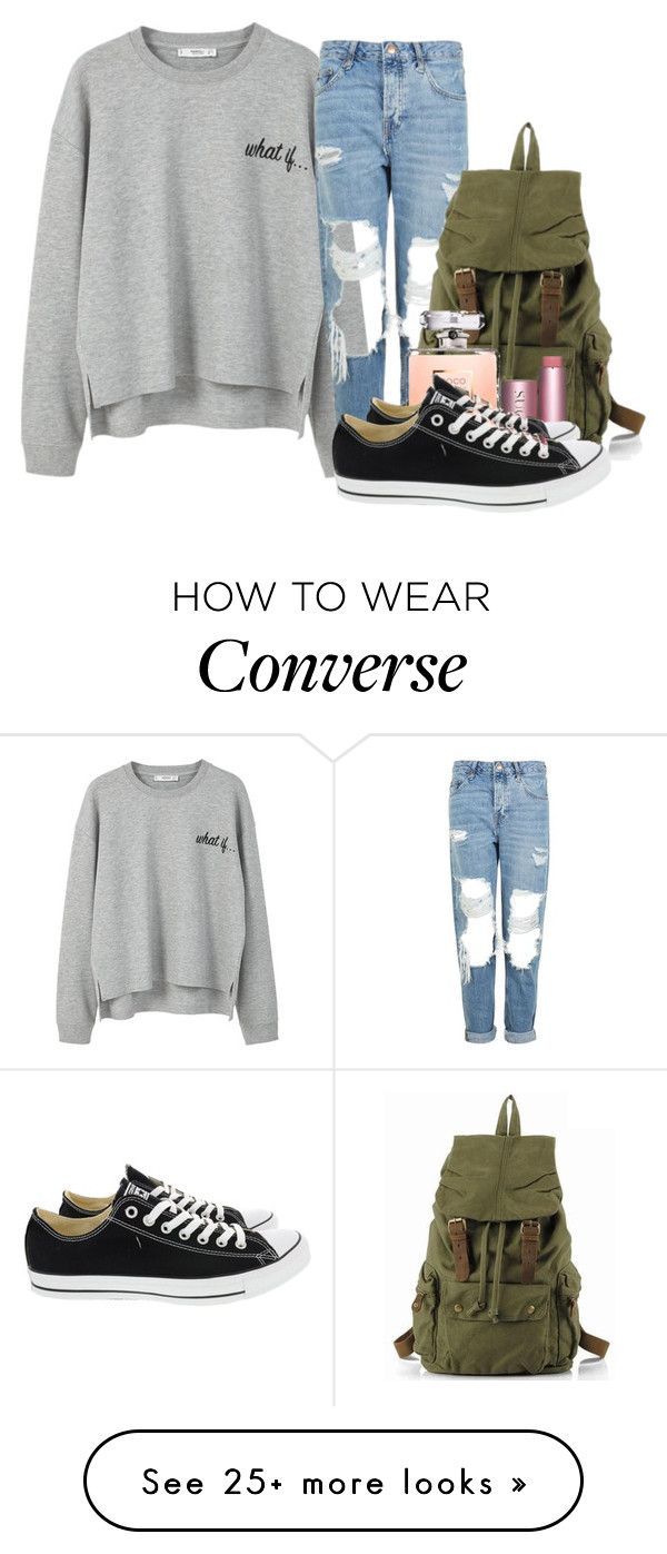 """""""Untitled #1243"""" by jasloves5sos on Polyvore featuring MANGO, Topshop and Converse"""