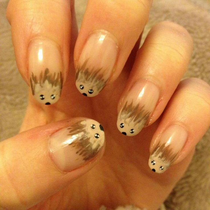Hedgehog nail art ♡