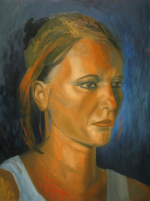 Orange Woman, by MAIA OPREA, more on www.maia-fine-art.com