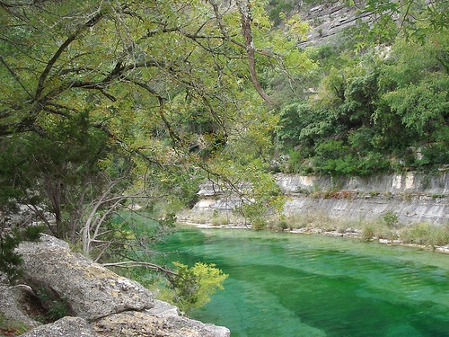 Camp HEB  Kerrville TXand yes you drive in the river