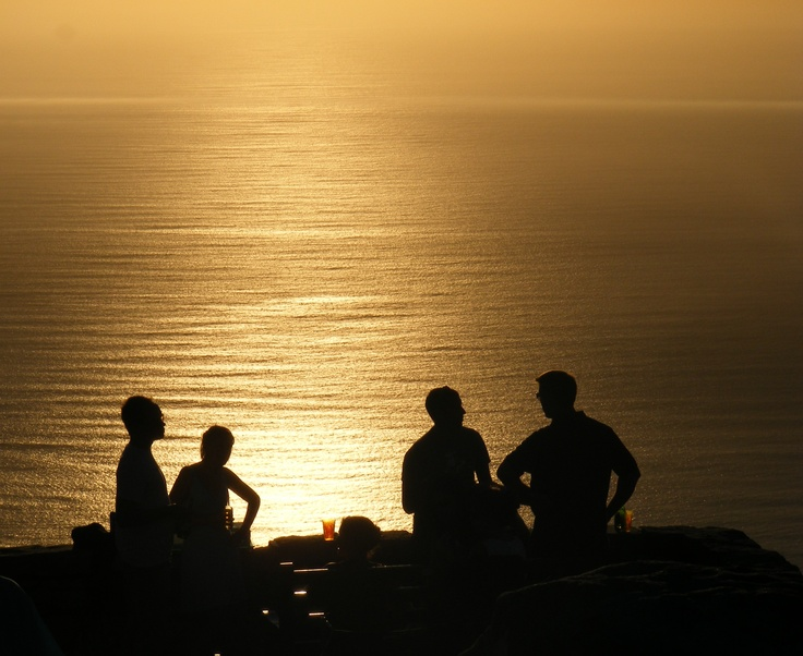 Sundowners on Table Mountain, South Africa