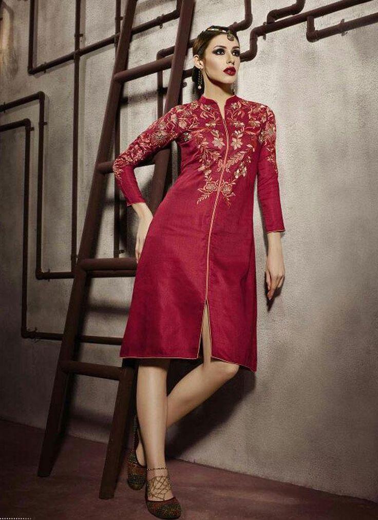 buy designer long kurtis online in india