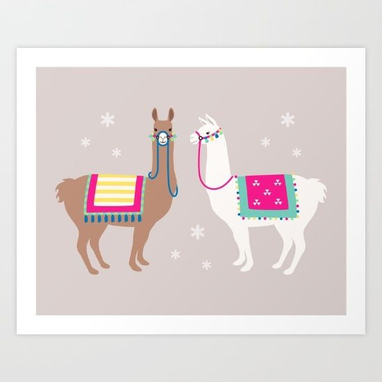 Drama+Llama+Art+Print+by+Running+River+Design+-+$16.00