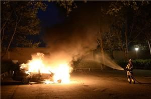 Sweden riots continue after police shooting | Windows smashed, cars and several containers set on fire, and seven police officers injured in Stockholm suburb.