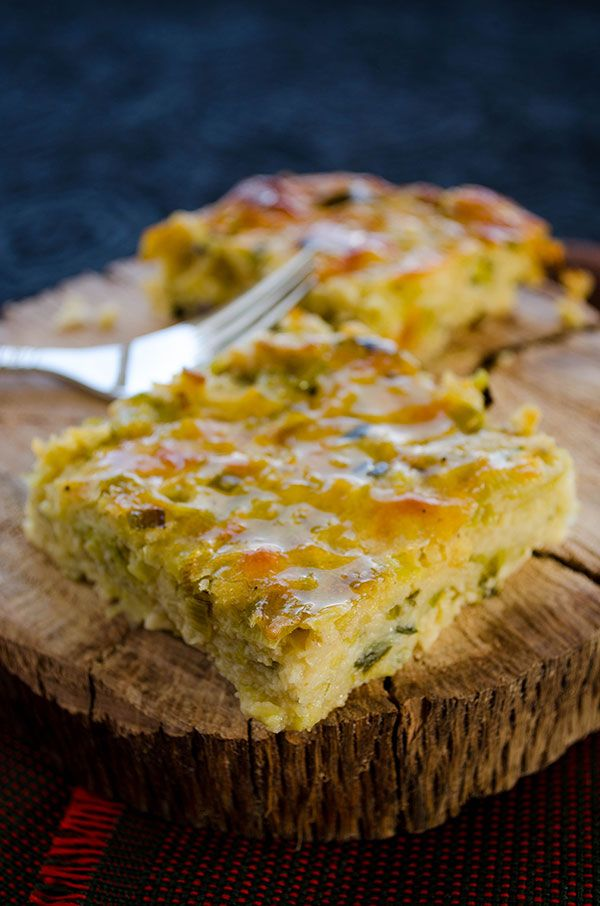 Oven baked leek frittata with loads of cheese | giverecipe.com