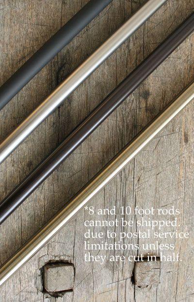 Rod 8 feet, oil rubbed bronze