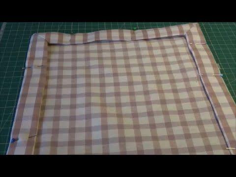 truco para hacer dobladillos en esquina - YouTube