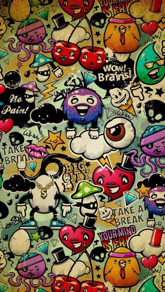 No Brains Wallpaper Wallpaper Graffiti Wallpaper