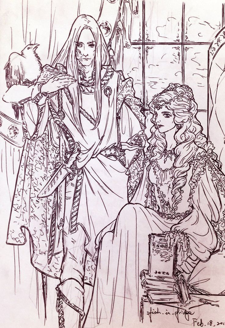 Brynden Rivers and Shiera Seastar by fish-in-fridge