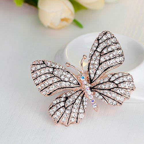Women Fashion Rhinestone Butterfly Pattern Brooch Pin Evening Party Jewelry Gift #Affiliate