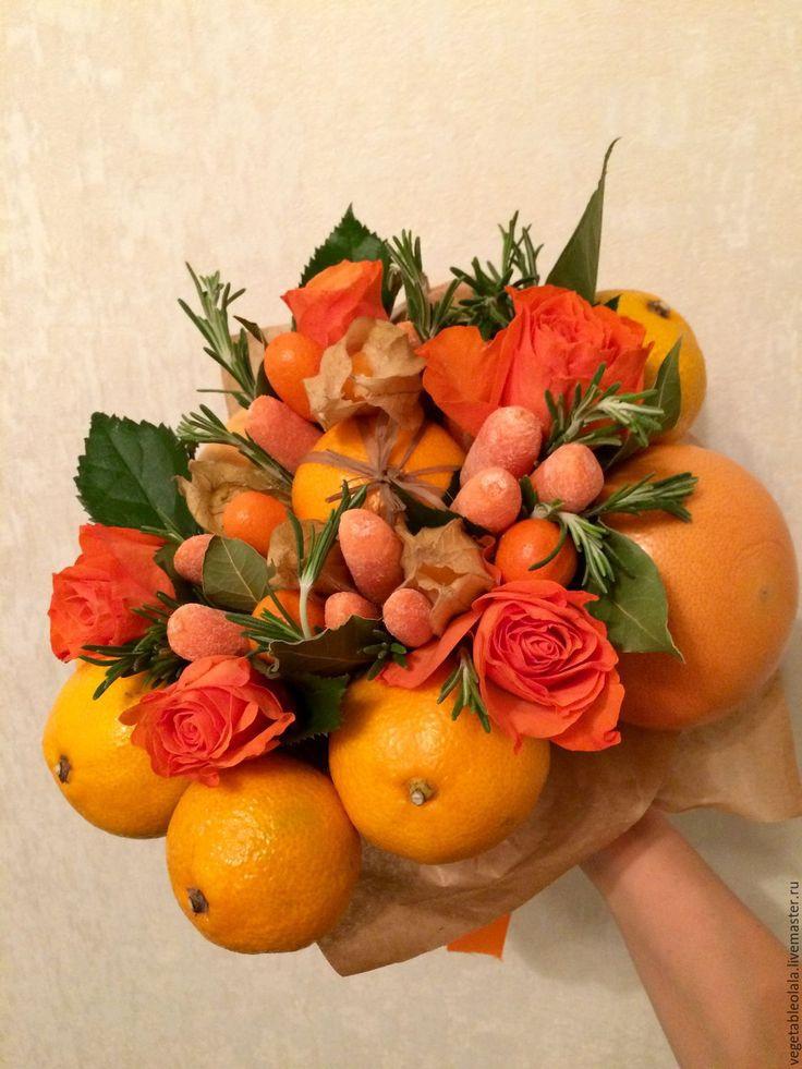Купить Антошка - младшенький - оранжевый, букет, букет ручной работы, свадебный букет, необычный букет