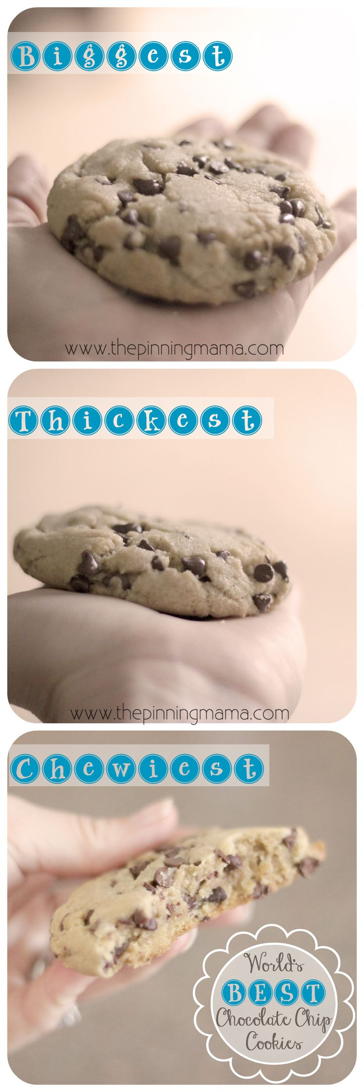 {Copycat} Panera Chewy Chocolate Chip Cookies Pinned over 100K times! Best chocolate chip cookie recipe ever!!