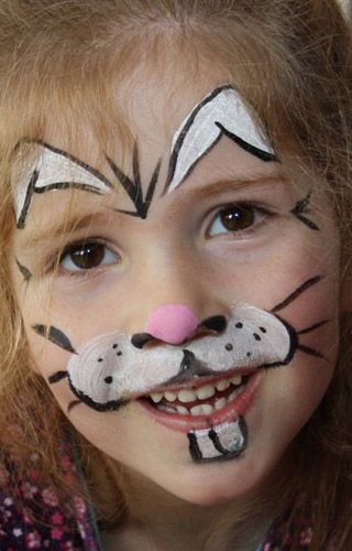 diy rabbit face paint diy halloween halloweencostumes costumes rabbits bunny bunnies. Black Bedroom Furniture Sets. Home Design Ideas