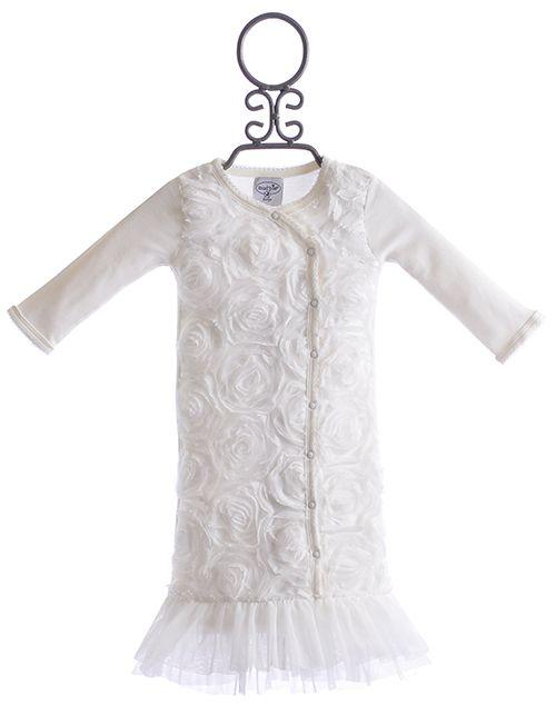 Mud Pie Girls Ivory Baby Gown $39.00 | All about Stella | Pinterest ...