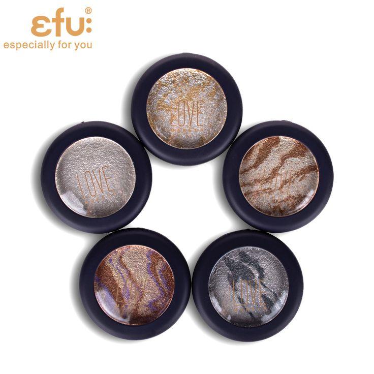 5 Couleurs de Fard À Paupières Baked Palette ombres à paupières dans Miroitement Métallique Yeux Maquillage Marque EFU #7052-7056