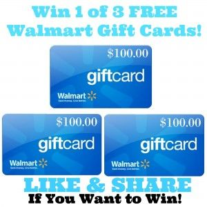 New Giveaway From Free Stuff in Canada. Enter for your chance to win 1 of 3 $100.00 Walmart gift cards. This contest is open to resident of Canada & USA.