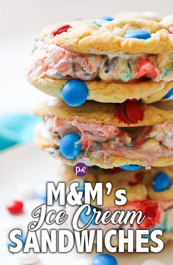 Ice Cream Sandwiches Made With M M S Cookies Pipandebby Com Recipe Yummy Chocolate Desserts Delicious Desserts Ice Cream Cookie Sandwich