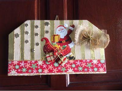 enfeite de Natal feito com caixote de feira