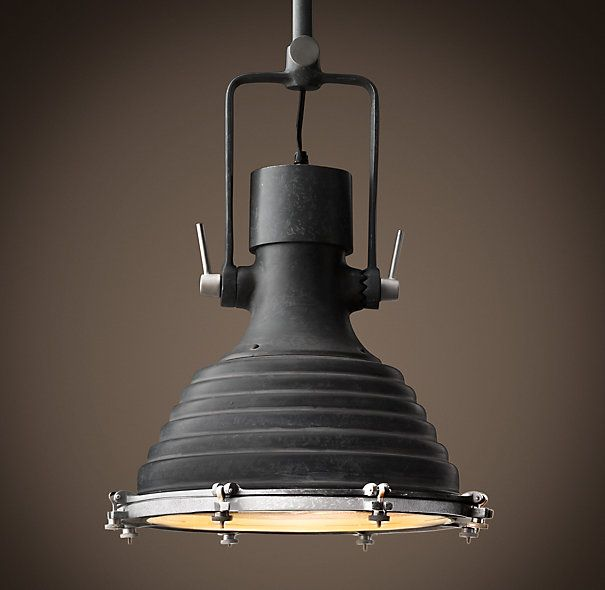loft rotterdam industrial rock pendant lighting. RH\u0027s Maritime Pendant Weathered Zinc:Inspired By An Antique Naval Lamp Found At Old Shipyard In The South Of France, Our Is A Sleek Loft Rotterdam Industrial Rock Lighting