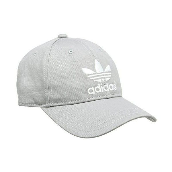 Adidas AC Classic Cap Solid Grey/White, One Size ($12) ❤ liked on Polyvore featuring adidas