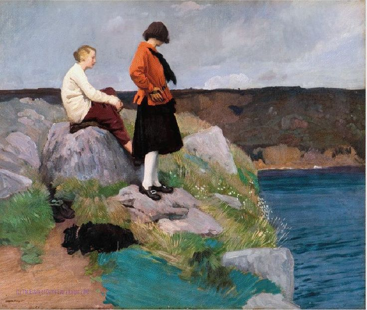 Dame Laura Knight The Cornish Coast, date unknown Oil on canvas, 65 x 76 cm Amgueddfa Cymru – National Museum Wales © Reproduced with the permission of the Estate of Dame Laura Knight DBE RA 2012 All Rights Reserved.Cornish Coast ~ Dame Laura Knight