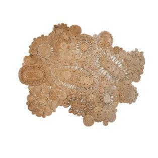 Intricate Jute lace rug by Jonathan Adler: Adler Crazy, Amazing Jute, Deco Apartment, Crochet Hooks, Jute Rugs, Flora Jute, Beautiful Art, Art Deco, Floors Rugs