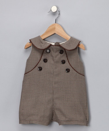 Take a look at this Brown Parker Romper	 by Baby Sophisticates on #zulily today!