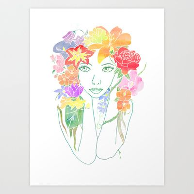 Beauty in Bloom Art Print by Cazzasaurus - $15.00