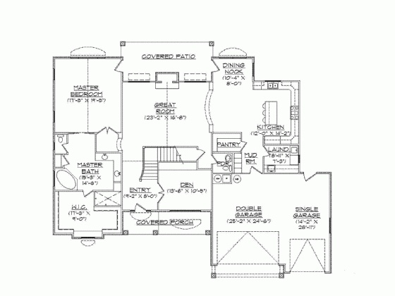 English Cottage Floor Plan Level One