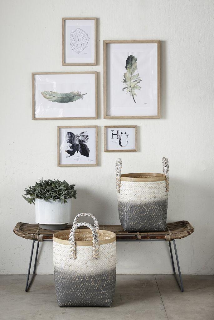 Bambusový košík White | Bella Rose