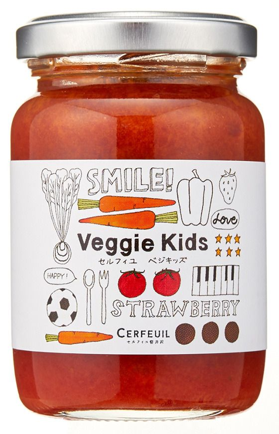 赤い野菜といちごのジャム | ナチュラル瓶詰食品ブランド「セルフィユ軽井沢」が、キッズ向けの無添加ジャム&ディップ「セルフィユベジキッズ」シリーズ