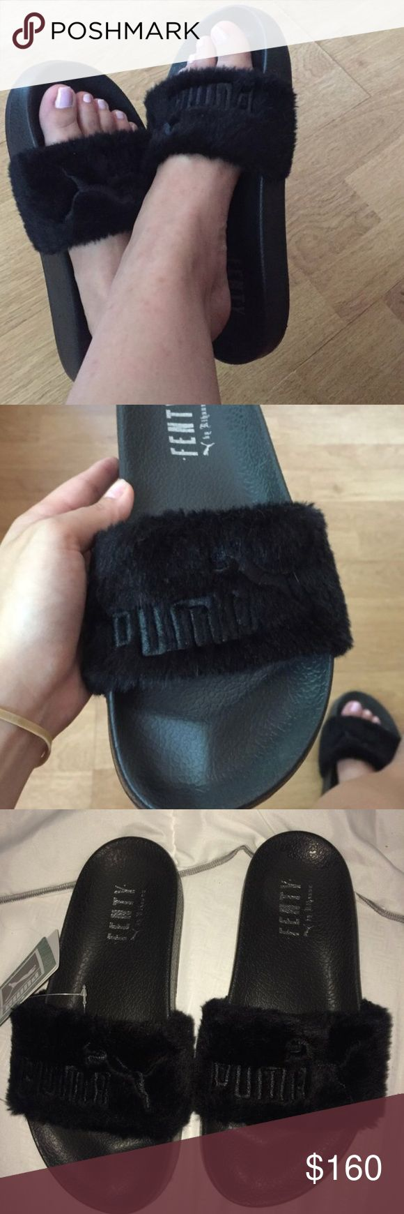 Fenty Puma Shoes Very popular but rare  Purchased online at StadiumGoods Authentic Black Leadcat Fenty style  Size 7.5 NWT fenty Shoes Slippers