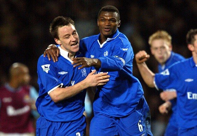 Chelsea legend Marcel Desailly (R) believes it is time for John Terry to move on from the club