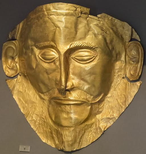 The mask of Agamemnon in the archaeological museum in Mycenae. #greece #peloponnese #mycenae #sightseeing #archaeology