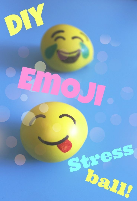 DIY Emoji stress ball - fun craft project for teens!