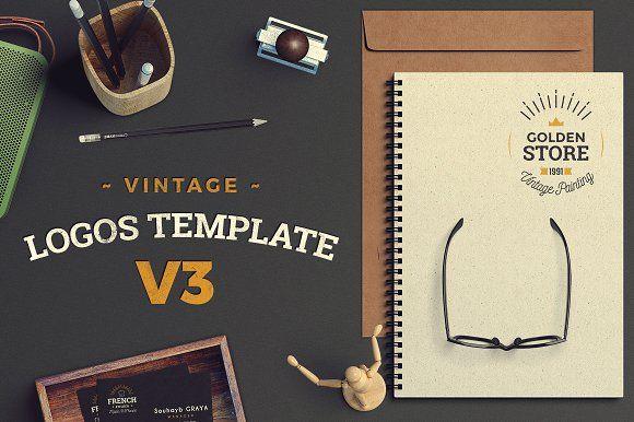 Vintage Logos Template Bundle V3 by SoubArt on @creativemarket