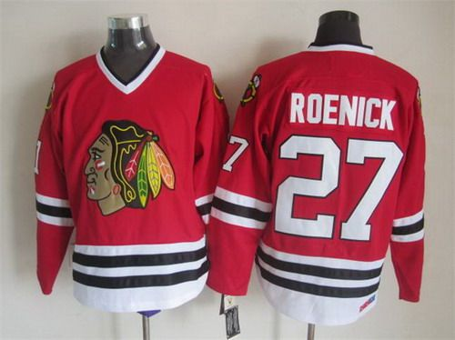 56a27b06dff ... authentic hockey 27 jeremy roenick chicago blackhawks 27 jeremy roenick  red throwback ccm jersey 2d855 8ee30