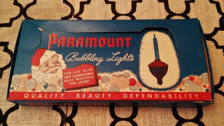 Vintage Paramount Bubble Christmas Lights mint in box unused