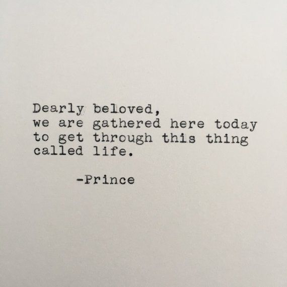 Prince Life Quote (Let\'s Get Crazy) Typed on Typewriter ...