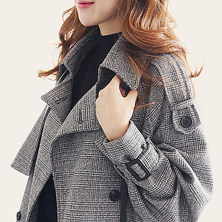 >> Click to Buy << 2017 Spring Women Trench Coat New Arrival Autumn Double-Breasted Turn-Down Collar Long Plaid Outwears S-2XL #Affiliate