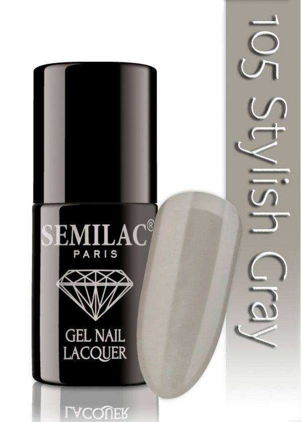 Semilac 105 Stylish Gray UV&LED Nagellack