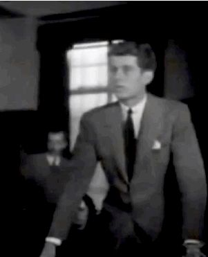 In 1939, after British ship, SS Athenia, was sunk off the north-west coast of Ireland, a 22-year-old addressed the surviving crew and passengers on behalf of his father. This was future US President John F. Kennedy's first public address.